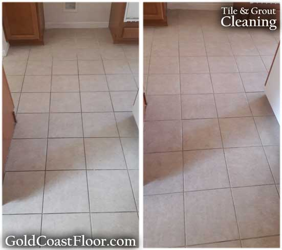 dirty grout tile cleaning