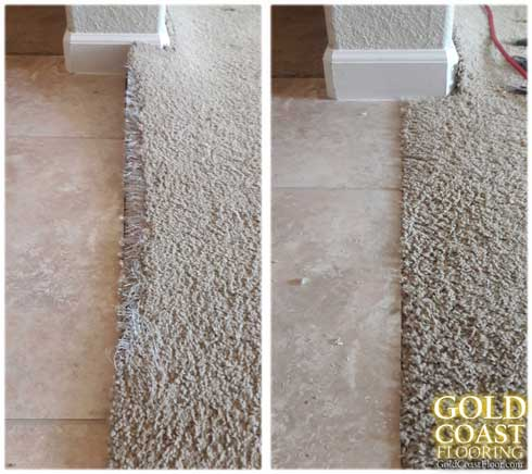 roseville CA CARPET INSTALLER & REPAIRS / STRETCHING carpet-repairs---carpet-to-tile-pet-damage