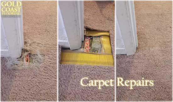 Cat Scratched The Carpet In Corner